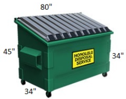 2 Cubic Yard Container